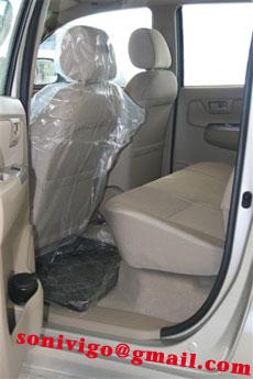 interior of LHD Toyota Hilux Vigo 2009