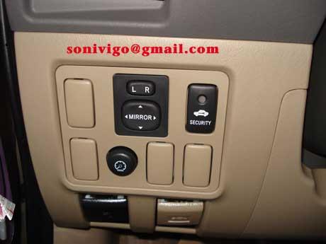 door panel of LHD Toyota Hilux Vigo 2009