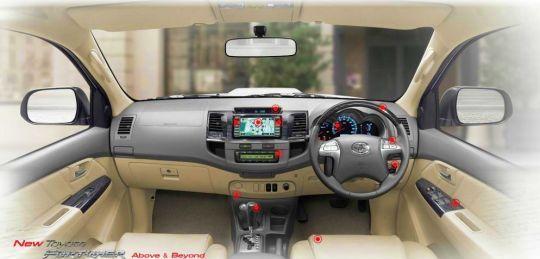 2012 2013 Toyota Fortuner dashboard
