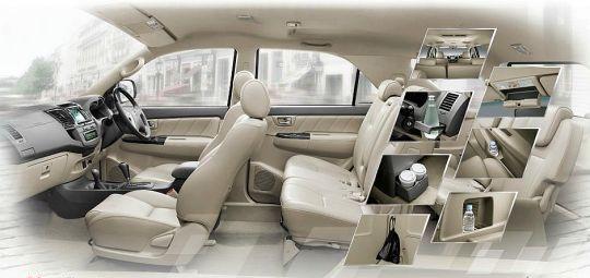 2012 Vigo Toyota Fortuner interior