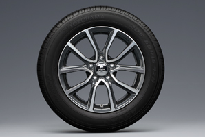Lancer Ex 205/60r16 Tires With 16-Inch Machined Bright Light Alloy Wheels