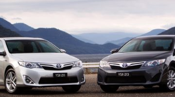 Toyota Camry Hybrid - Camry HL (left) and Camry H