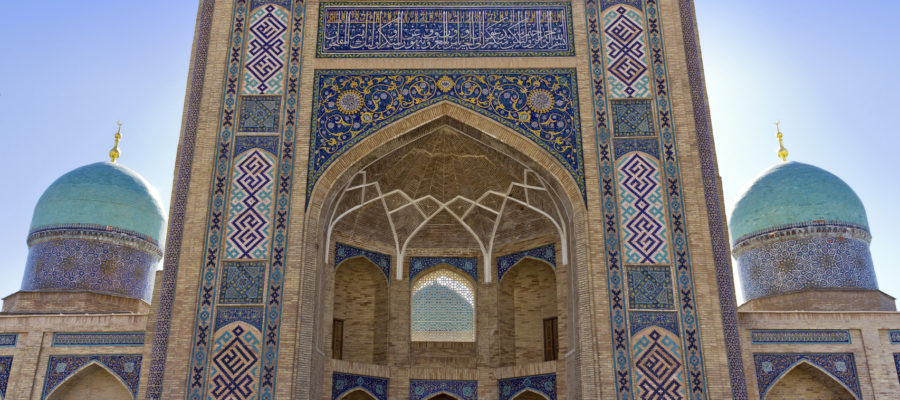 Madrasah Burokhon in Tashkent front view